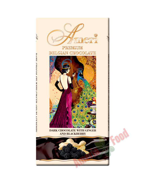 Ameri Dark chocolate with ginger and blackberries