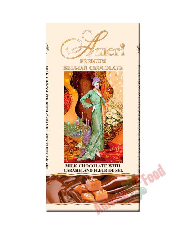 Ameri Milk Chocolate bar with Caramel Pieces & Fleur-de-Sel