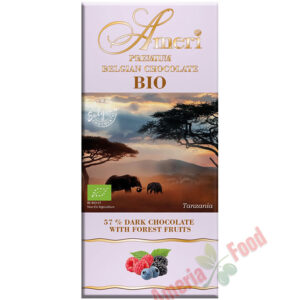 Ameri Dark Chocolate 57% with forest fruits BIO