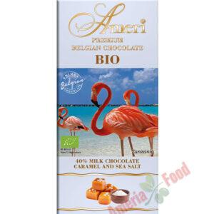 Ameri Milk Chocolate 40% caramel and sea salt BIO