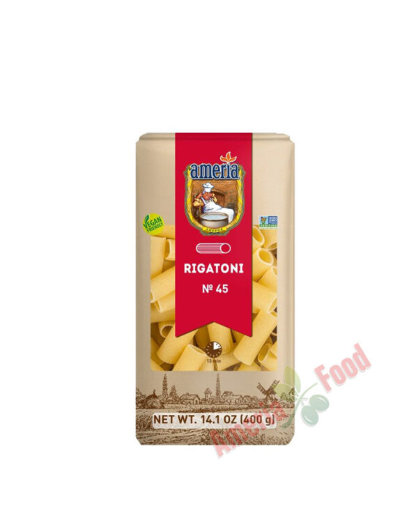 Ameria N45 Rigatoni Non-GMO pasta 30x400gr