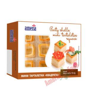 Ameria party shells mini tartlets Square 12x12x60g