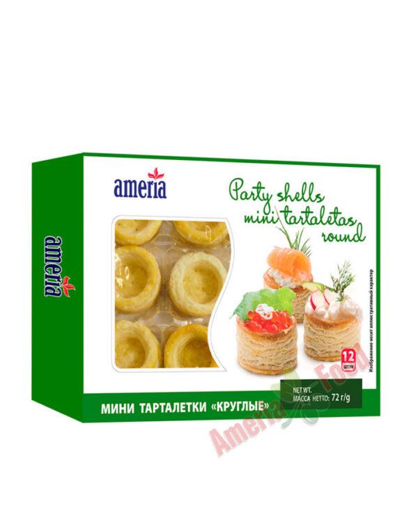 Ameria party shells mini tartlets Round 12x12x60g
