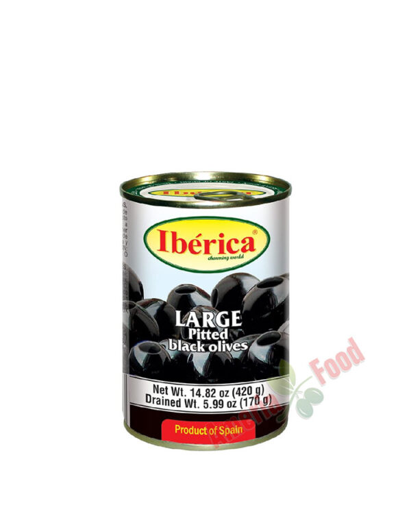 Iberica-Black-Pitted-Olives,-24x432ml