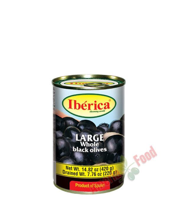 Iberica-Black-Whole-Olives,-24x432ml