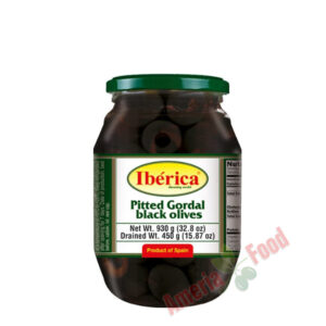 Iberica-Pitted-Black-Giant-Olives,-6x995ml