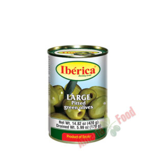 Iberica-Pitted-Green-Olives,-24x432ml