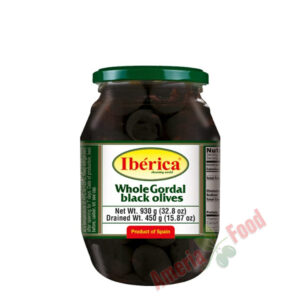 Iberica-Whole-Black-Giant-Olives,-6x995ml