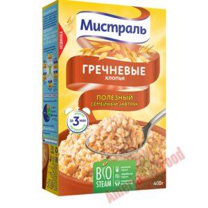 MIstral buckwheat flakes 12x400gr
