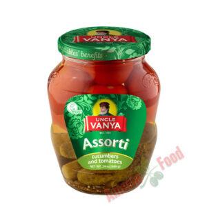 Uncle Vanya Cucumbers and Tomatoes Assorti 680ml